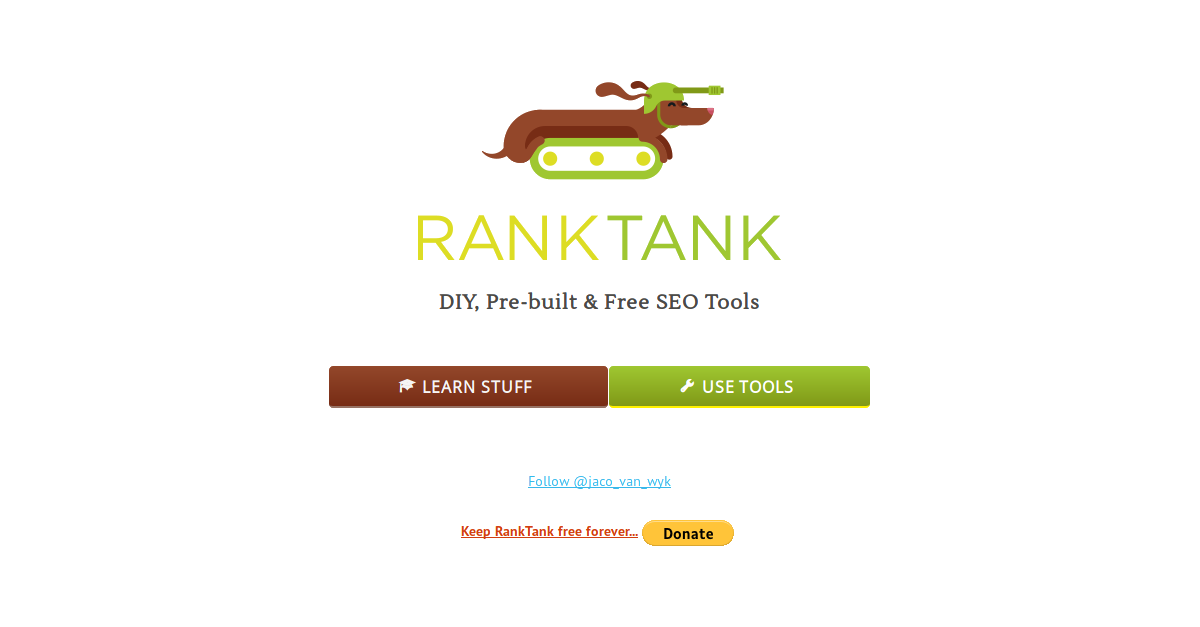 RankTank: Free SEO Tools & Learn to Build Your Own